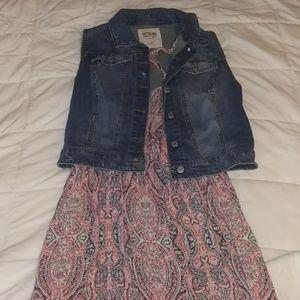 Xhilaration Maxi Dress w/Mossimo Blue Jean Vest